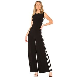 Revolve Norma Kamali Black Side Stripe Jumpsuit
